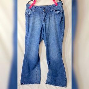 LANE BRYANT Blue Distinctly Bootcut Jeans